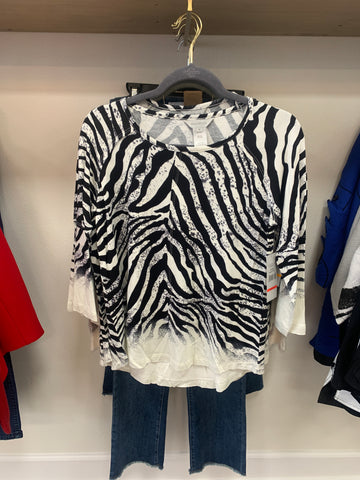 Zebra Long Sleeve Top
