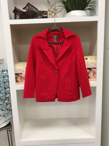 Tomato Red Lined Jacket Blazer
