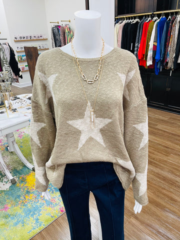 Starry Taupe Light Sweater