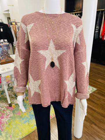 Starry Mauve Lightweight Sweater
