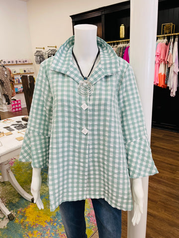 Sage/White Gingham Jacket