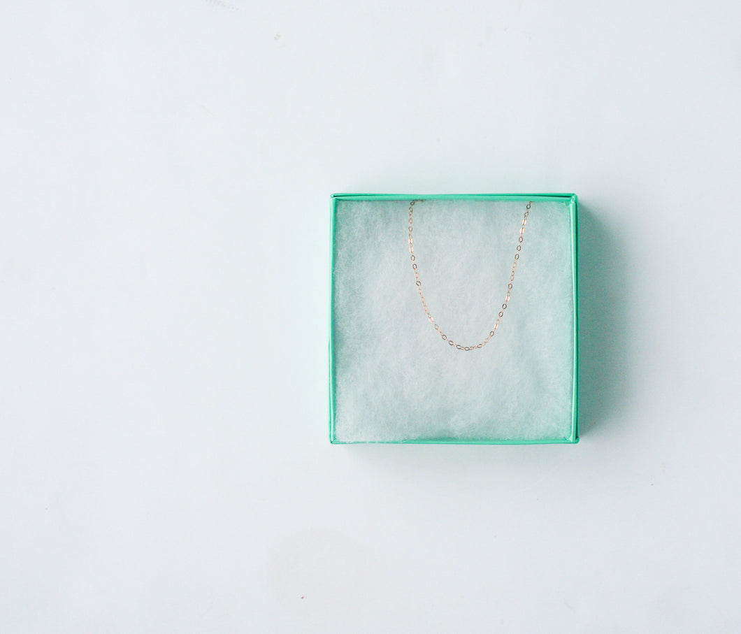 Rose Gold Choker Necklace - Simple