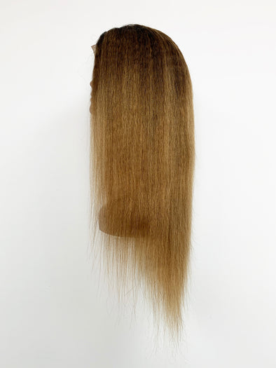 Kinky Straight Full Lace Wig - Gold Ombre