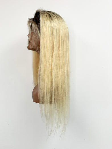 Silky Straight Full Lace Wig - Ukrainian Ombre