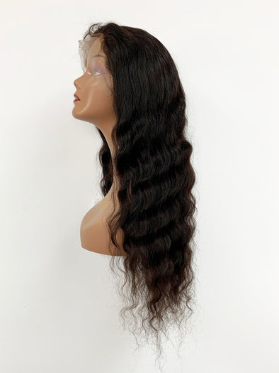 Malaysian Wave Full Lace Wig - Natural