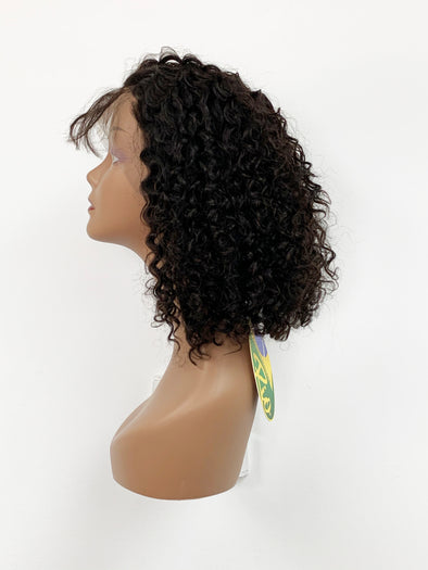 "BOB 12"" Bohemian Curly Full Lace Wig - Natural"