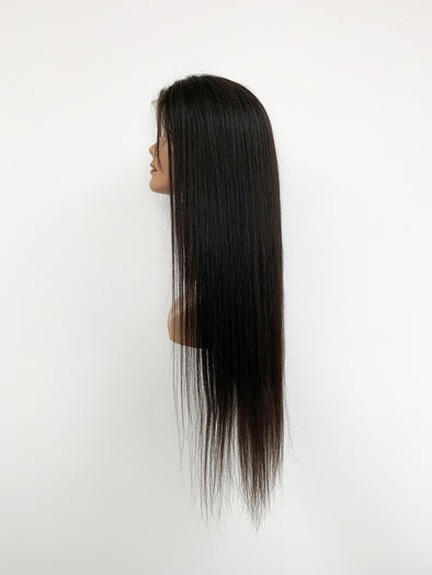 Silky Straight Full Lace Wig - Natural