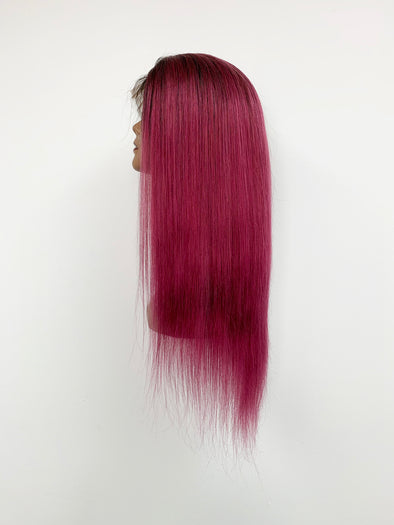 Silky Straight Full Lace Wig - Grape Ombre