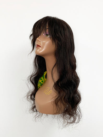 Body Wave Full Lace Wig - French Bang - Natural