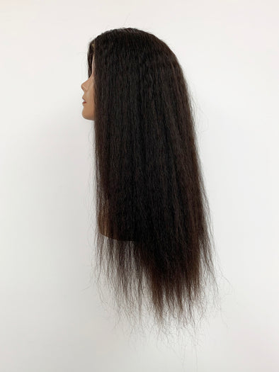 Kinky Straight Full Lace Wig - Natural