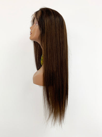 Silky Straight Full Lace Wig - Chocolate Ombre