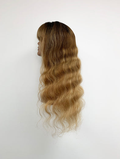 Body Wave Full Lace Wig - French Bang - Gold Ombre