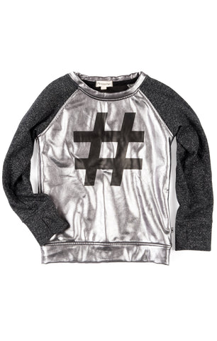 Trophy Raglan Hashtag Top