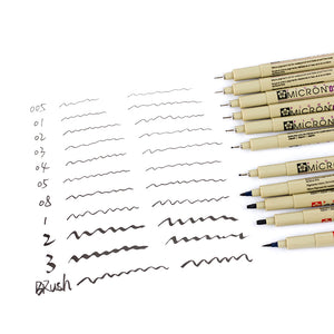 Sakura Micron Ink and Brush Pen Sets For Design