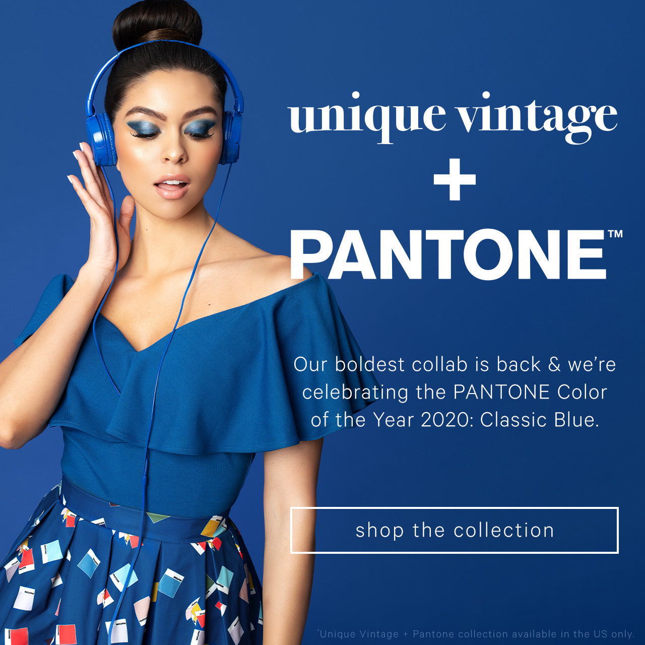 Unique Vintage — UV + Pantone Color of the Year: Classic Blue