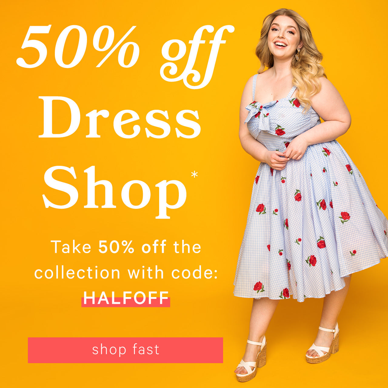 Unique Vintage — 50% off Select dresses with code: HALFOFF