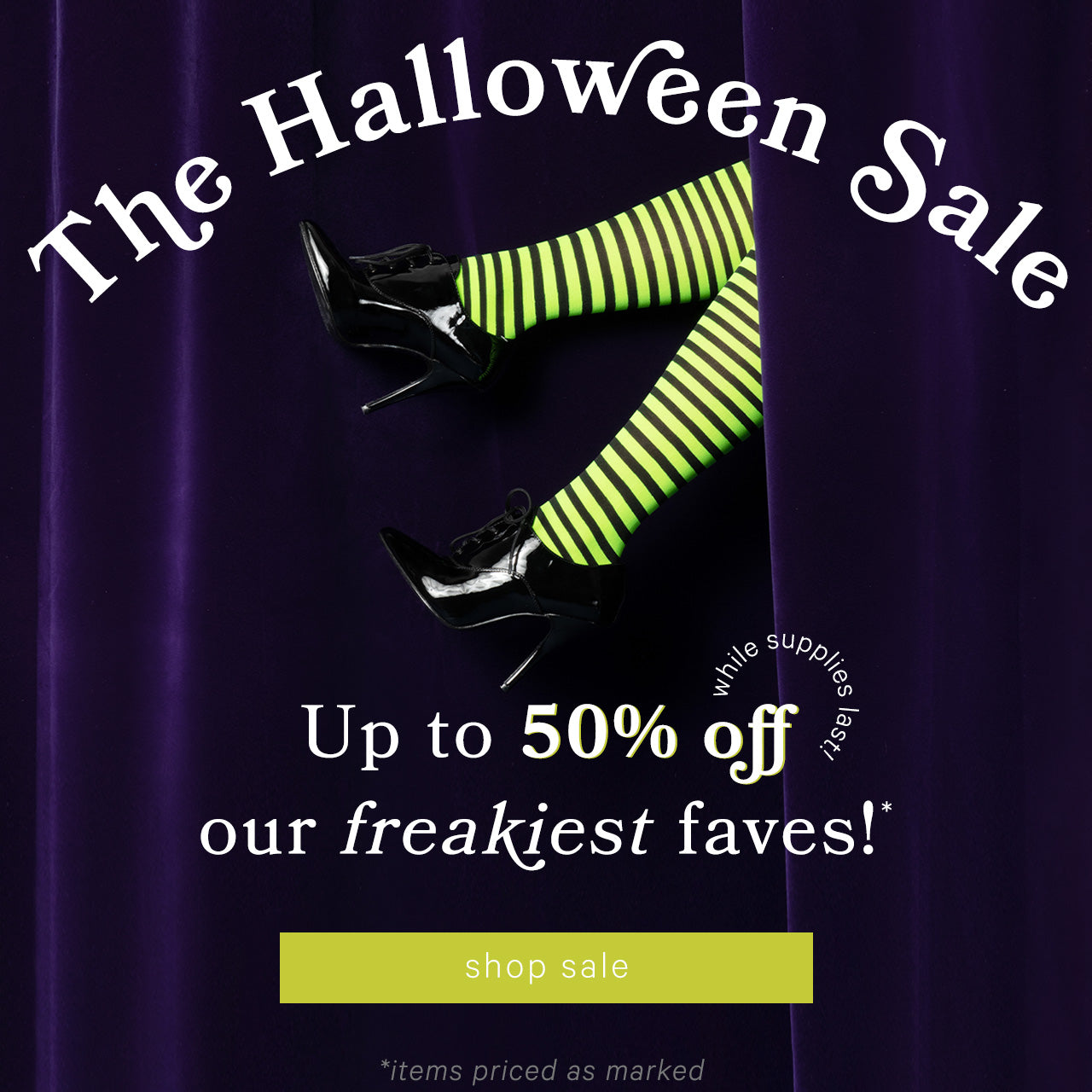 Unique Vintage — Halloween Sale! Up to 50% off our freakiest faves!