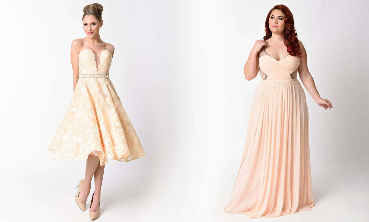 1bb2198fc83 Prom Dress Guide on Unique Vintage. Summer Complexions – Summer complexions have  pink ...