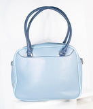 Blue Leatherette Swimmer Purse