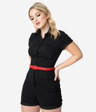 Unique Vintage Black Dixie Romper
