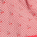 Unique Vintage Plus Size Red Gingham & Cherry Print Rye Swing Skirt
