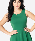 Smak Parlour Green Sleeveless Charmed Swing Dress
