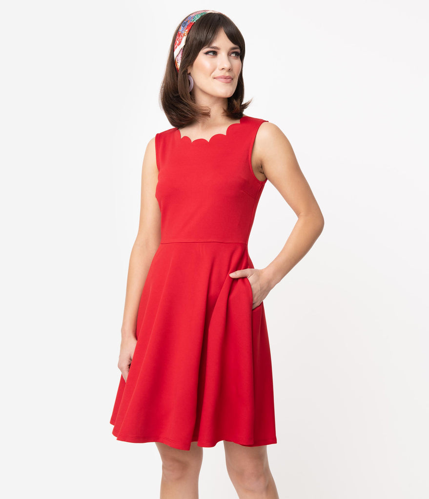 Smak Parlour Red Sleeveless Charmed Fit & Flare Dress