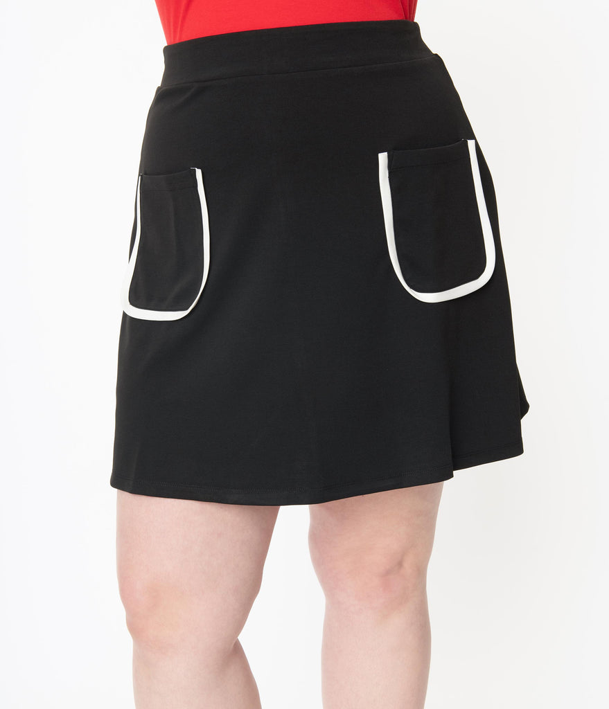 Smak Parlour Plus Size Black Mod Pocket Say It Loud Skirt