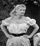 I Love Lucy x Unique Vintage White Crochet Vineyard Blouse