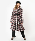 Miss Candyfloss Plaid Belted Teagan Coat