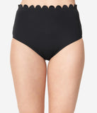 Kingdom & State Black Scalloped Swim Bottoms