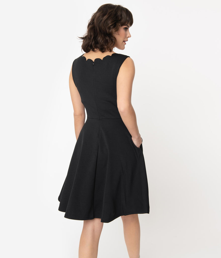 Smak Parlour Black Sleeveless Charmed Fit & Flare Dress