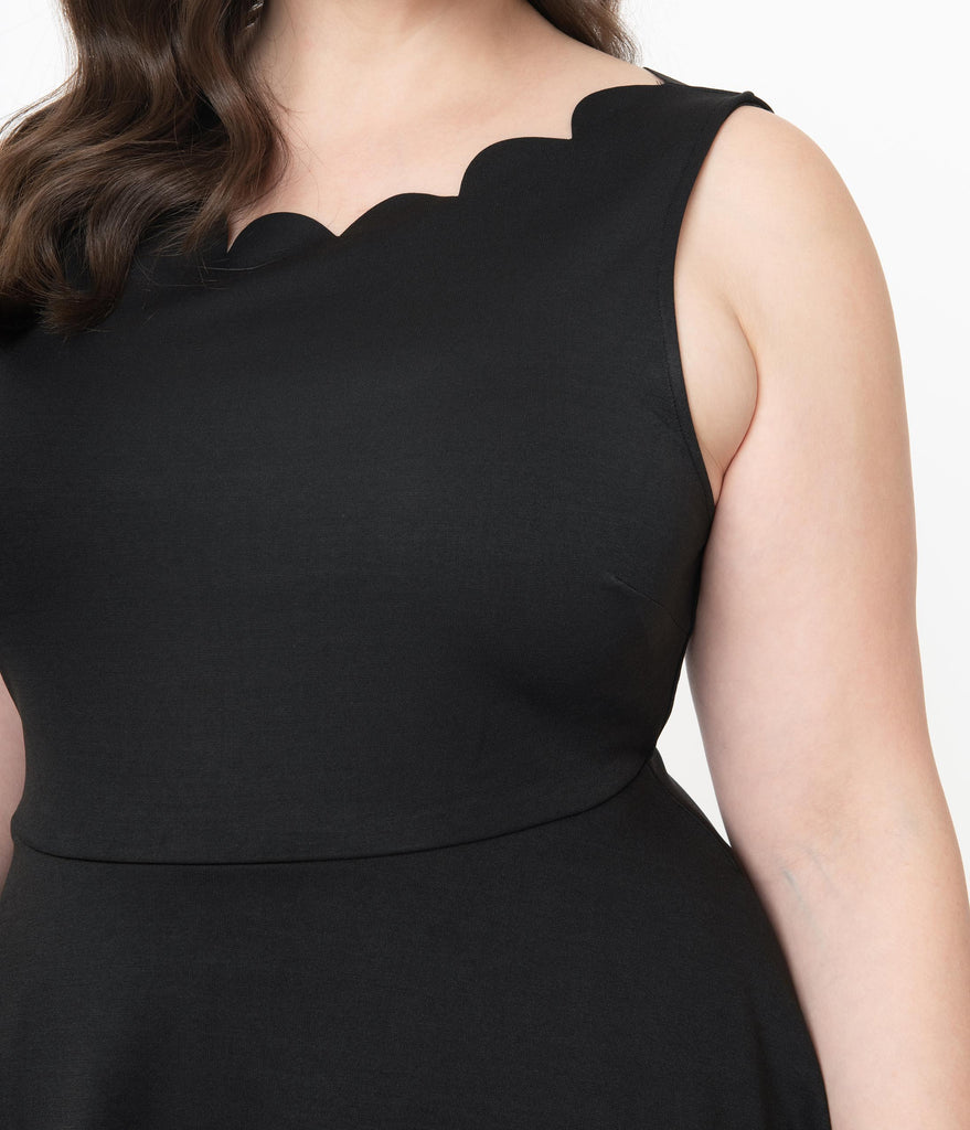 Smak Parlour Plus Size Black Sleeveless Charmed Fit & Flare Dress