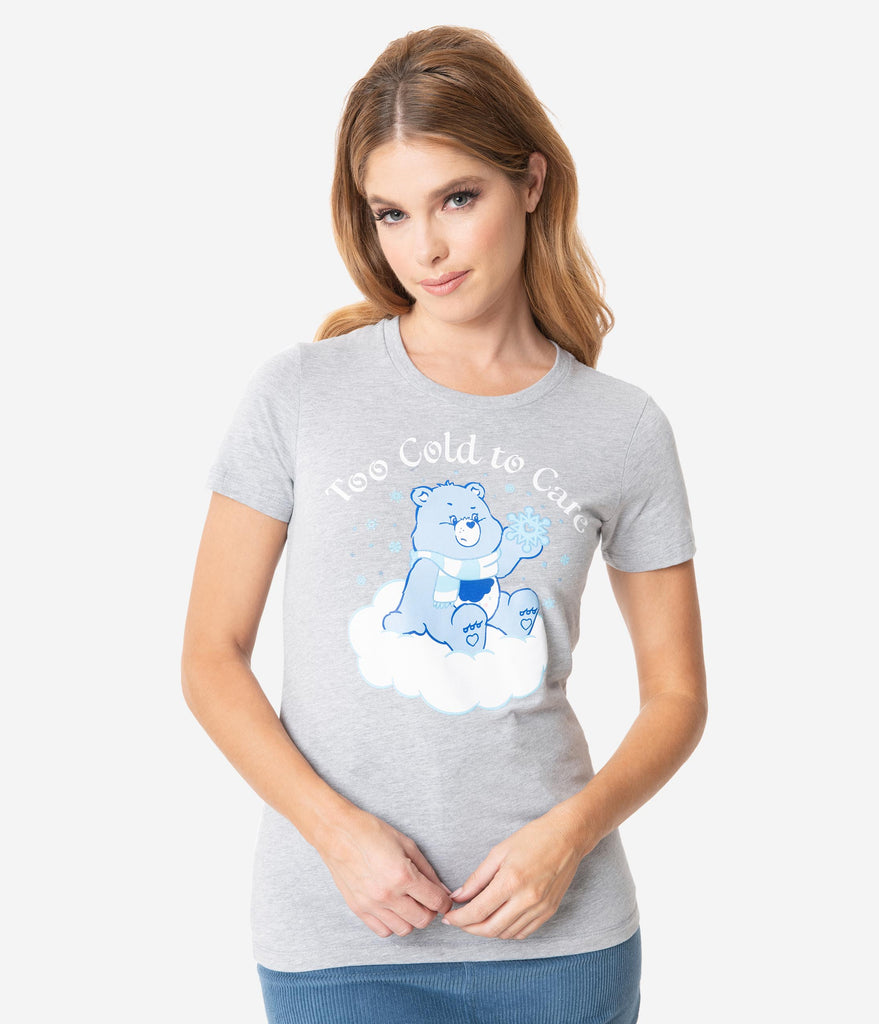 Care Bears x Unique Vintage Too Cold To Care Womens Tee