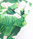 Vintage Style White & Green Palm Print Shower Cap