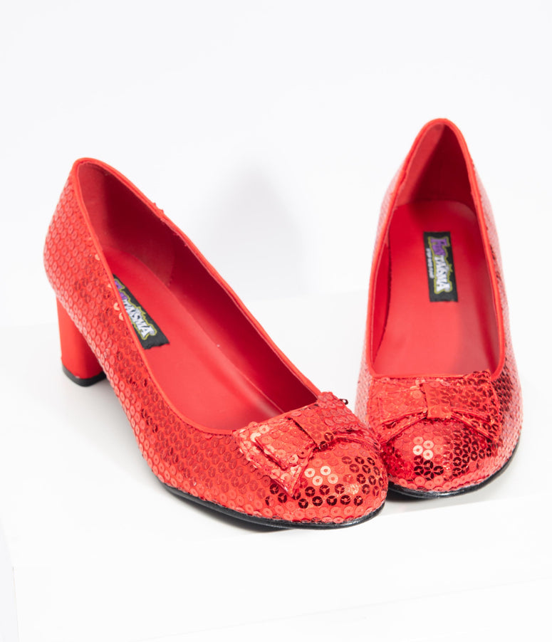 Ruby Red Sequin Dorothy Heels