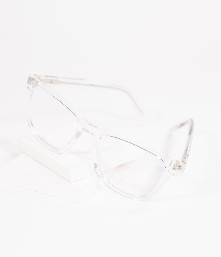 Quay Clear Hardwire Blue Light Square Glasses