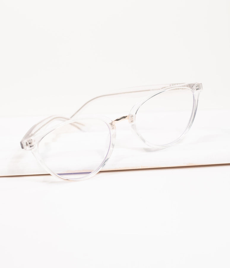 Quay Clear Rumours Blue Light Cat Eye Glasses