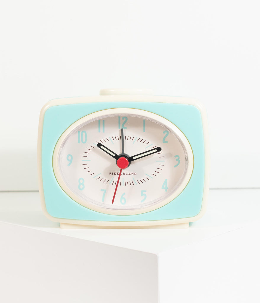 1950s Style Mint Atomic Alarm Clock