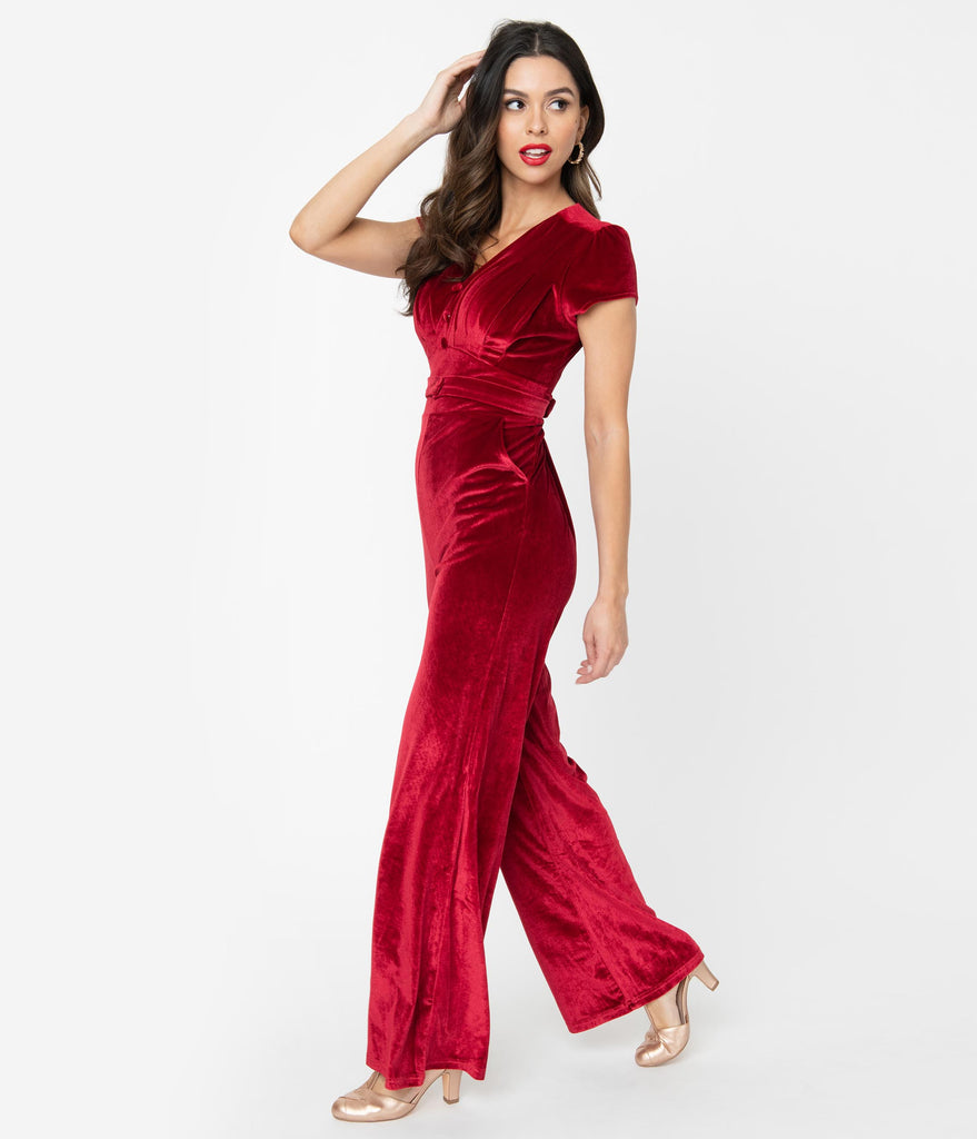 Red Velvet Jitterbug Jumpsuit