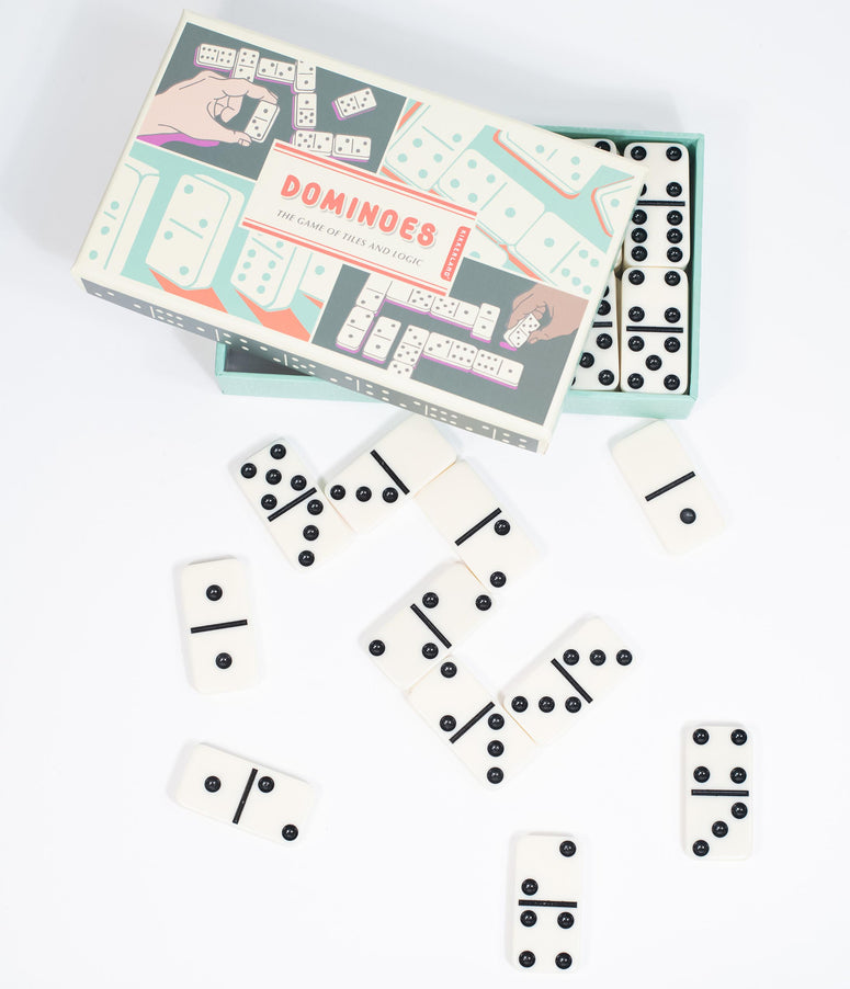 Vintage Style Portable Dominoes Game
