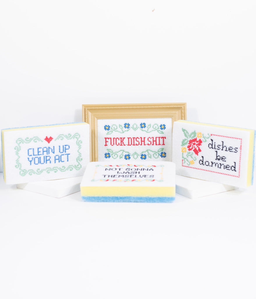 Subversive Cross Stitch Sponge Cabby Set