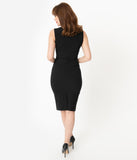Glamour Bunny 1950s Black Selena Pencil Dress