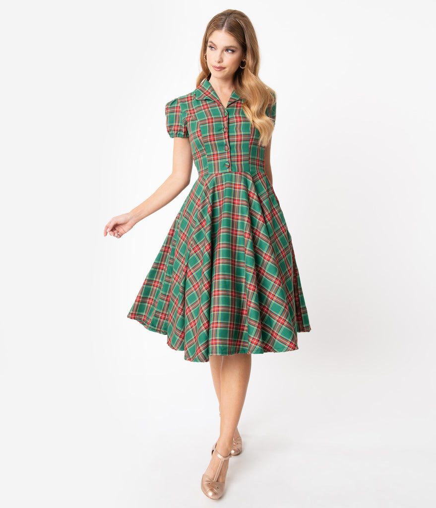 Red and Green Holiday Dresses