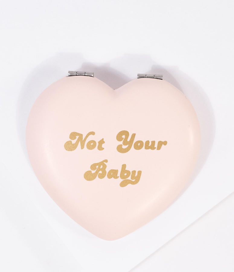 Light Pink Heart Not Your Baby Compact Mirror