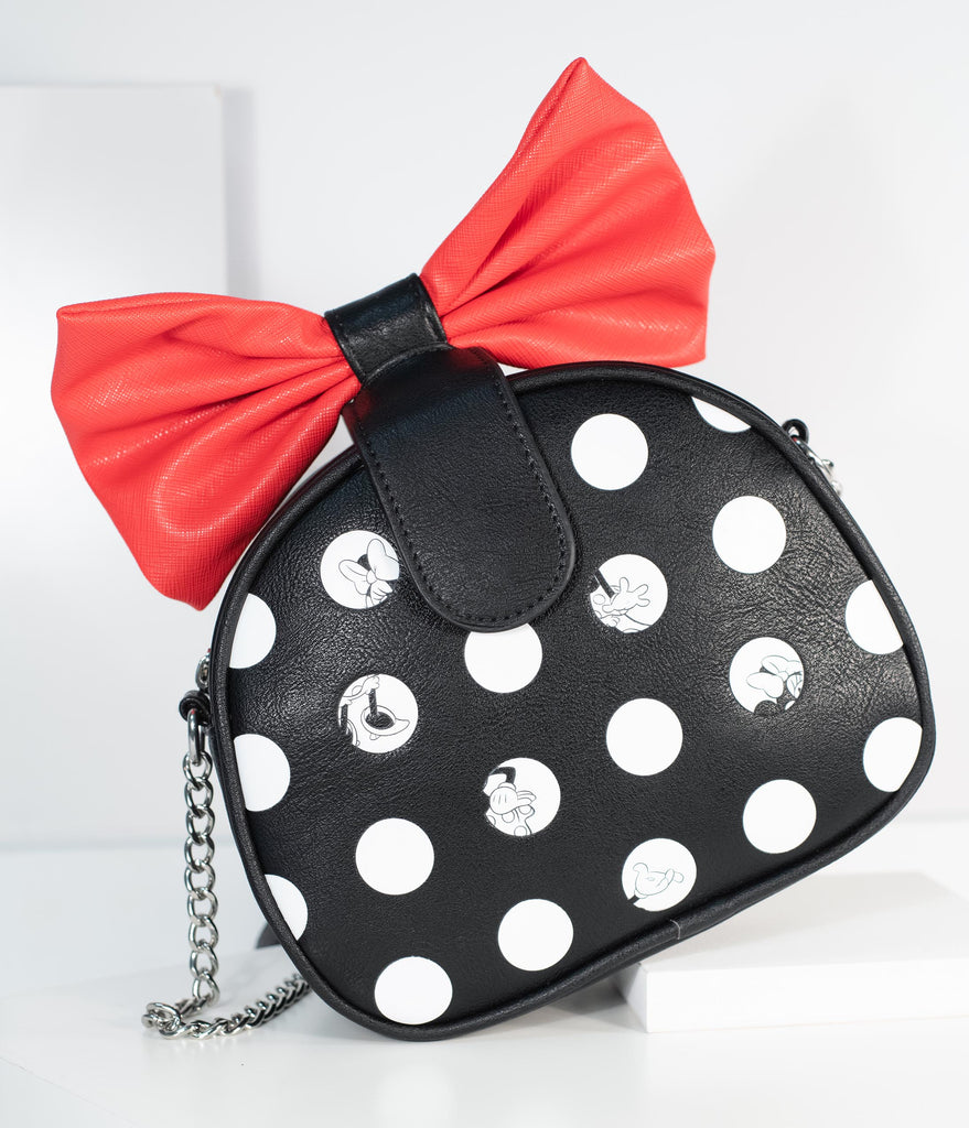 Loungefly Minnie Mouse Big Red Bow Disney Purse
