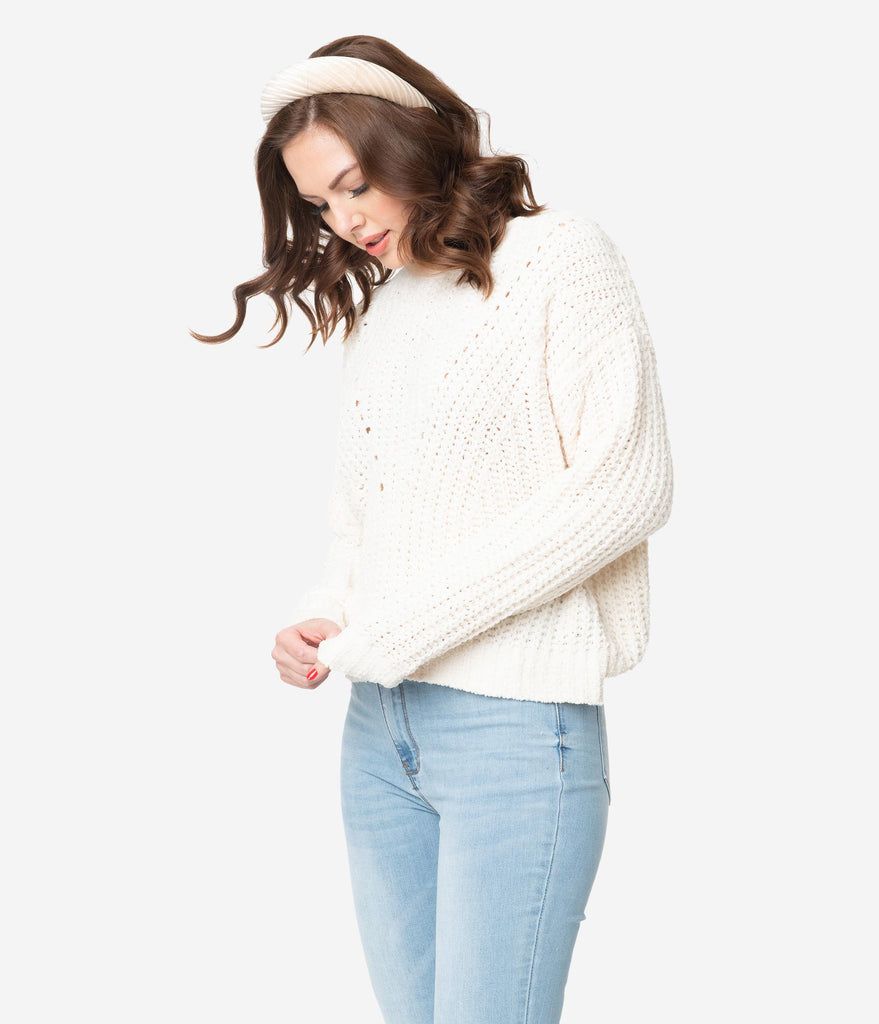 Ivory Chunky Knit Sweater