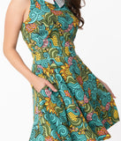 Smak Parlour Groovy Floral Female Forward Fit & Flare Dress