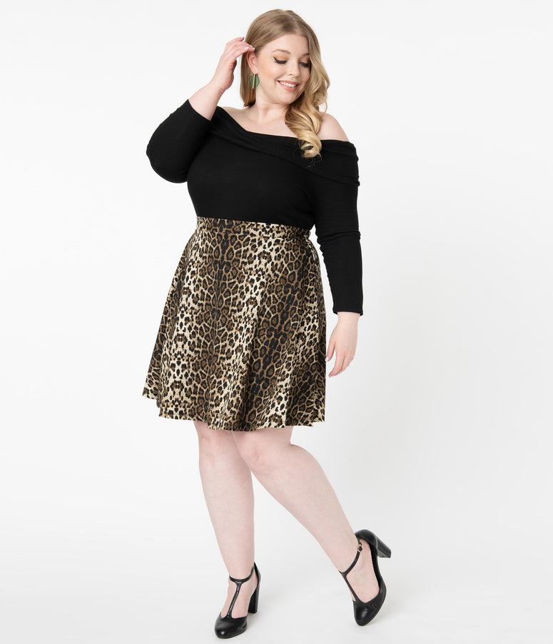 Smak Parlour Plus Size Leopard Print Sweet Talk Skirt