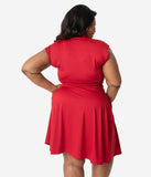 Retrolicious Plus Size Red Bombshell Dress